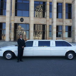 driver with one of Our limo buses