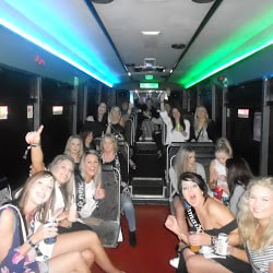 clubbing in our vip party bus in toronto