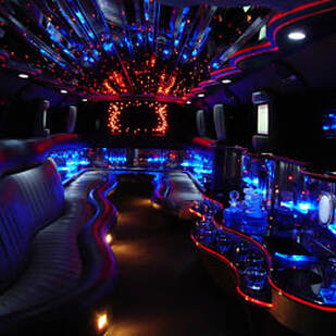 inside a limo bus